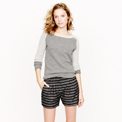 Tweed stripe short