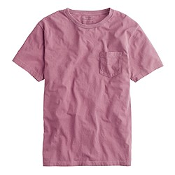 Hand-dyed pocket tee in lac