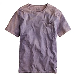 Hand-dyed pocket tee in logwood