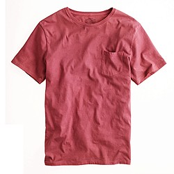 Hand-dyed pocket tee in madder