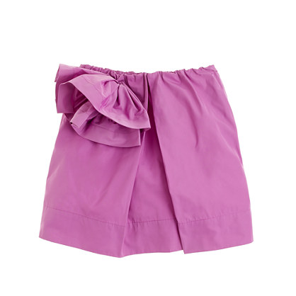 Girls' taffeta flower skirt