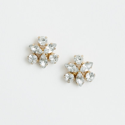 Factory crystal pinwheel earrings
