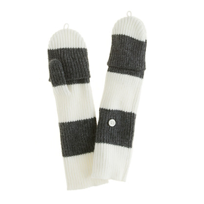 Girls' rugby-stripe glittens