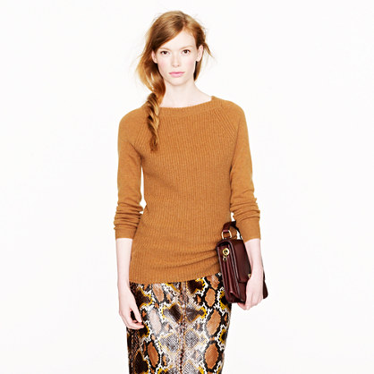 Collection cashmere ribbed square-neck sweater