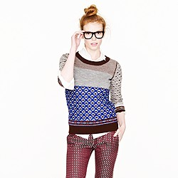 Inside-out Fair Isle sweater