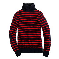 Merino turtleneck sweater in stripe