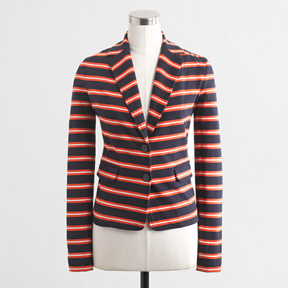 Factory stripe knit blazer