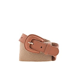 Stretch woven wide belt