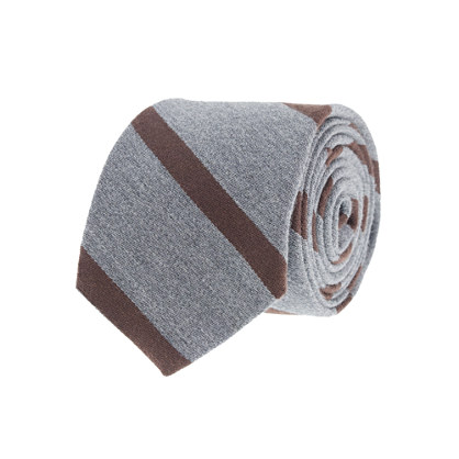 Macartney-stripe wool tie