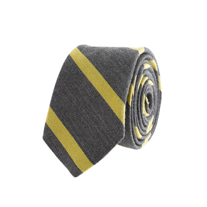 Macartney-stripe wool-silk tie