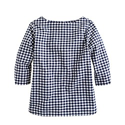 Girls' button-back shirt in gingham