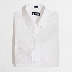 Factory point-collar dress shirt in white