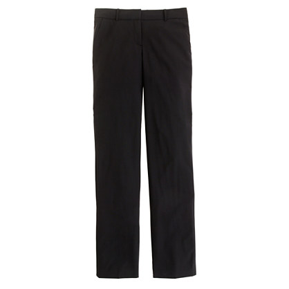 Stovepipe trouser in stretch wool