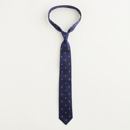 Factory mini-paisley print tie