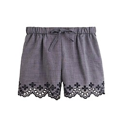 Girls' eyelet short