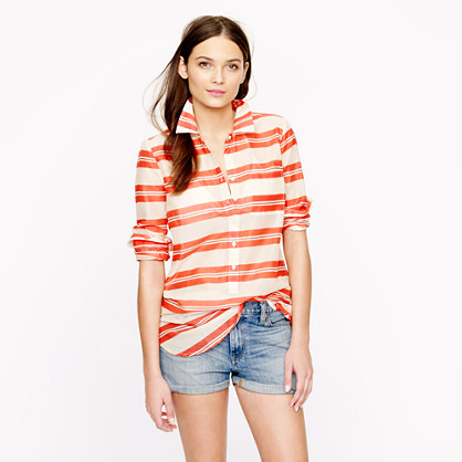 Stripe cotton voile tunic