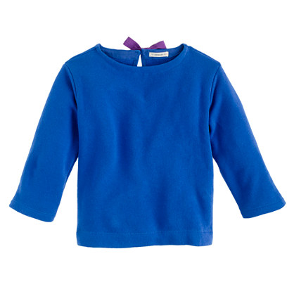Girls' bow sweatshirt