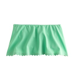Scalloped beach skirt