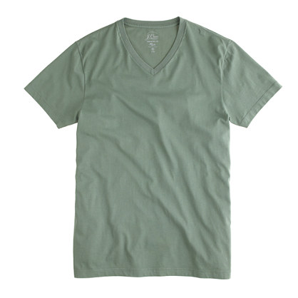 Slim broken-in V-neck tee