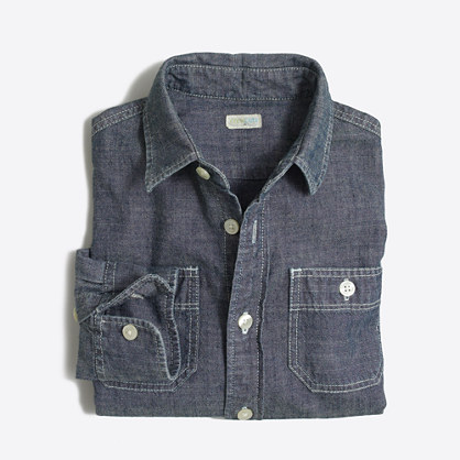 Factory kids' classic chambray shirt