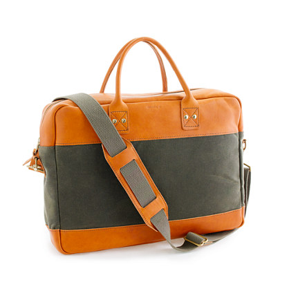 Billykirk® for J.Crew padded briefcase