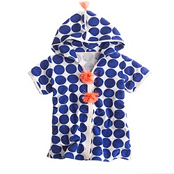 Girls' terry dot hoodie tunic