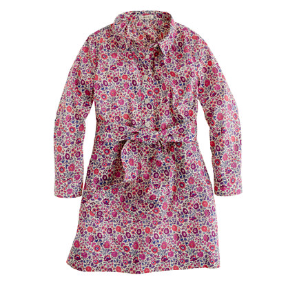 Girls' Liberty shirtdress in D'Anjo floral