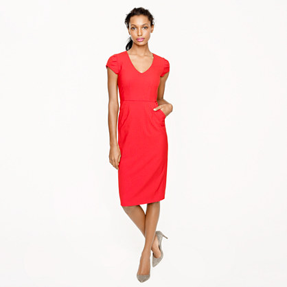 Director dress in stretch wool