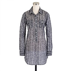 Herringbone stripe tunic