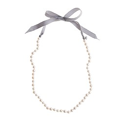 Girls' Collection ribbon-tied long pearl necklace