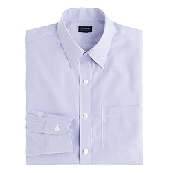 Slim non-iron dress shirt in peri stripe