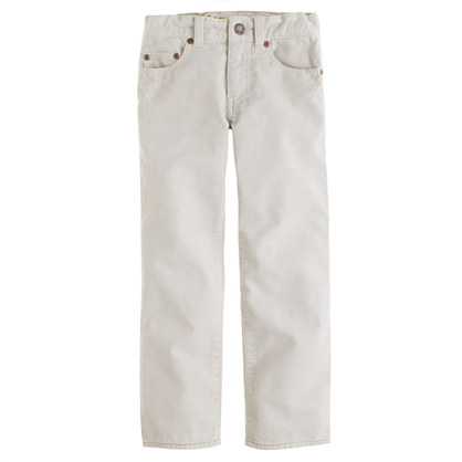Boys' vintage cord in straight fit