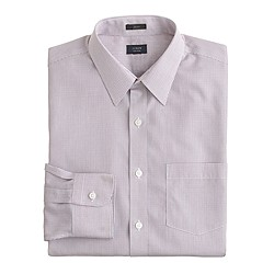 Slim non-iron dress shirt in microtattersall