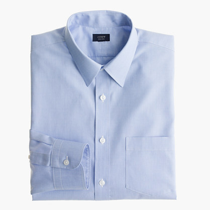 Non-iron end-on-end dress shirt
