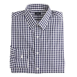 Slim non-iron dress shirt in gingham