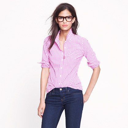 Perfect shirt in mini-gingham