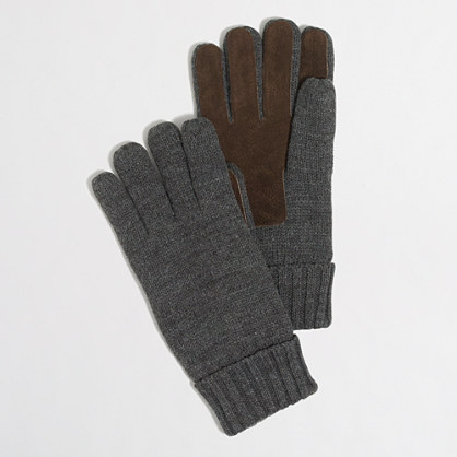 Factory sueded gloves