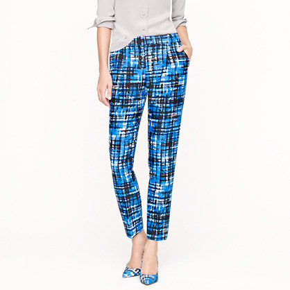 Collection etched plaid pant