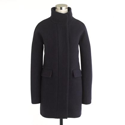 Stadium-cloth cocoon coat