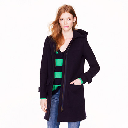 Petite stadium-cloth duffle coat