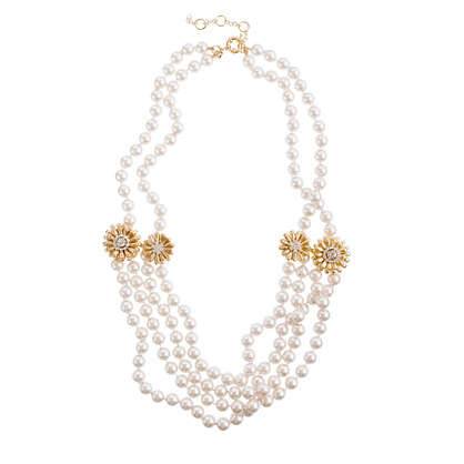 Marigold pearl necklace
