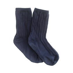 Boys' solid cotton socks