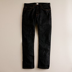 484 jean in black resin crinkle wash