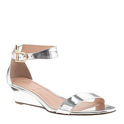 Lillian mirror metallic low wedges
