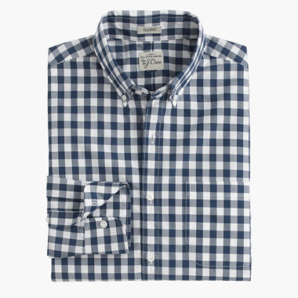 Slim Secret Wash shirt in faded gingham