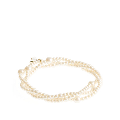Girls' triple-strand pearl bracelet