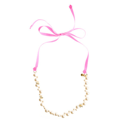 Girls' mini-pearl necklace