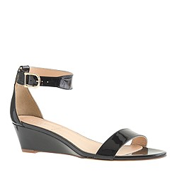 Lillian patent low wedges