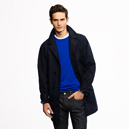nanamica® Gore-Tex® Soutien collar coat in Black Watch