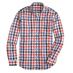 Secret Wash shirt in purple check